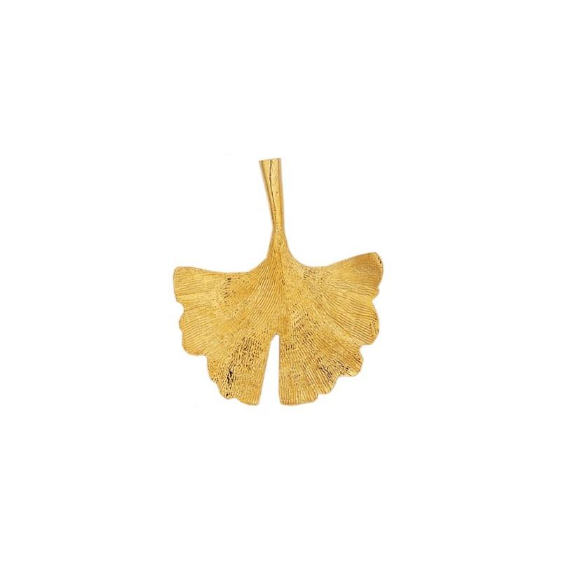 Pendentif Ginkgo biloba GM Or 18 carats jaune - La Petite Française