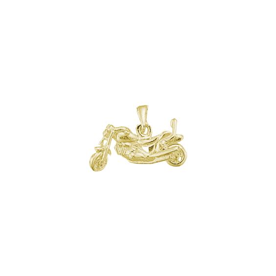 Pendentif moto custom Or 18 carats jaune - La Petite Française