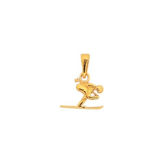Pendentif skieur PM Or 18 carats jaune - La Petite Française