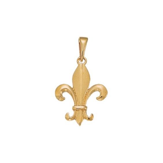 Pendentif Fleur de Lys Or 18 carats jaune - 25 MM - La Petite Française