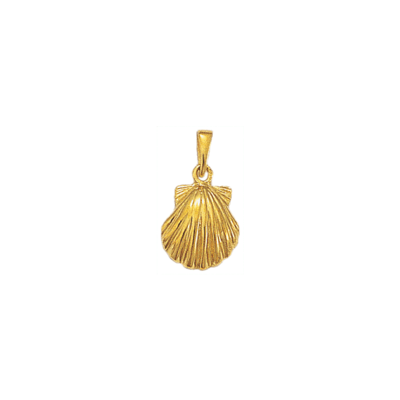 Pendentif Coquille Saint-Jacques Or 18 carats jaune - La Petite Française