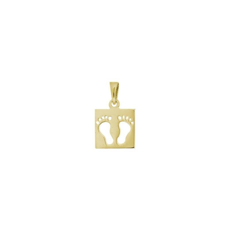 Pendentif carré pieds Or 18 carats jaune - La Petite Française