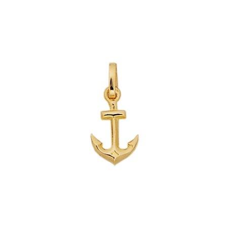 Pendentif ancre marine Or 18 carats jaune - 19 MM - La Petite Française
