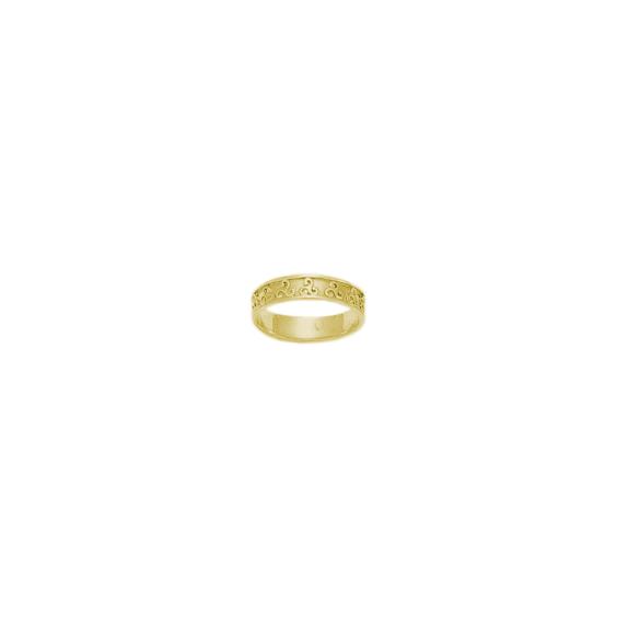 Anneau triskel Or 18 carats jaune - 5 MM - La Petite Française