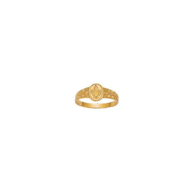 Bague fleurs de Lys Or 18 carats jaune - La Petite Française