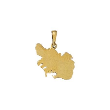 Pendentif carte Morbihan Or 18 carats jaune - 20 MM - La Petite Française