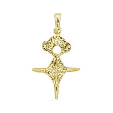 Croix du sud filigrane Or 18 carats jaune - 33 MM - La Petite Française