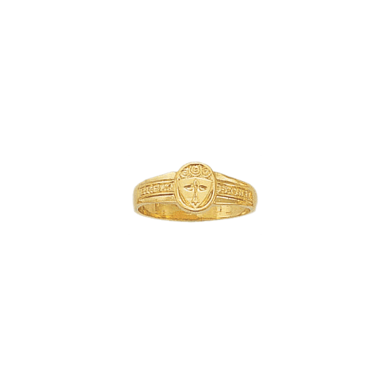 Bague hermine Or 18 carats jaune - 9 X 7 MM