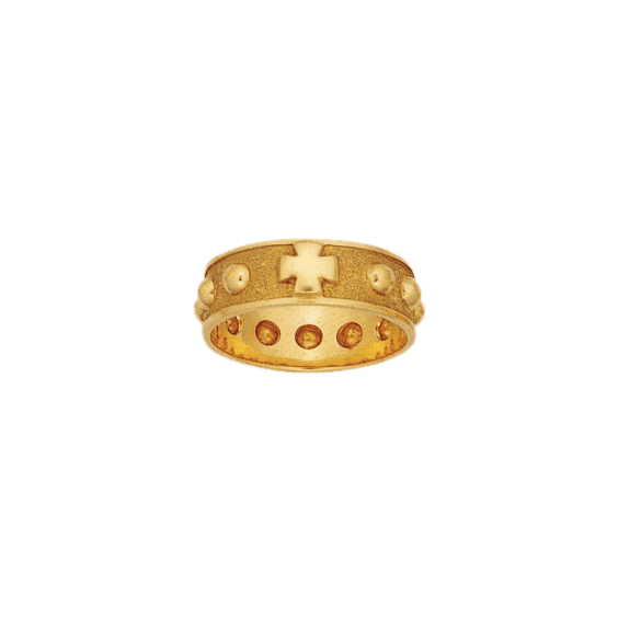 Anneau dizainier Or 18 carats jaune - 7 MM - La Petite Française