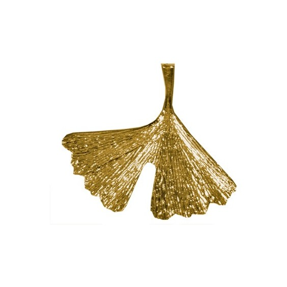 Pendentif Ginkgo biloba MM Or 18 carats jaune - La Petite Française
