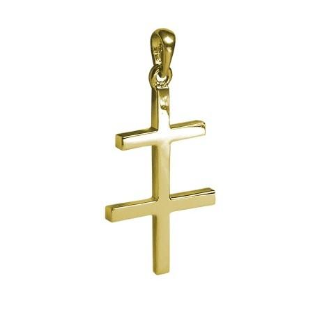 Croix de Lorraine Or 18 carats jaune - 41 MM - La Petite Française