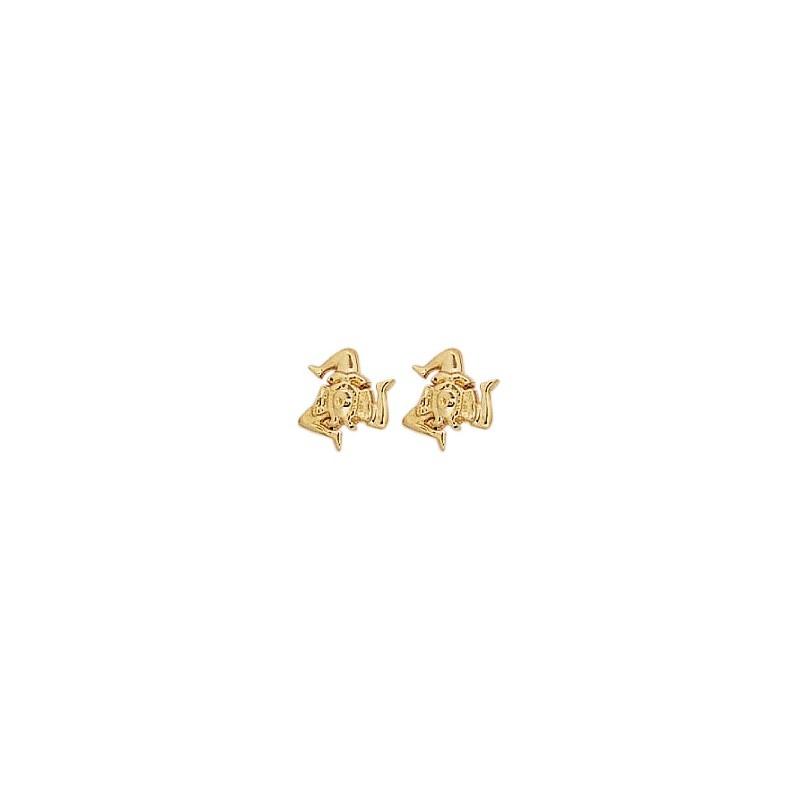 Boucles d'oreilles Trinacria Or 18 carats jaune - La Petite Française