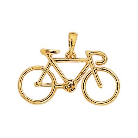 Pendentif vélo Or 18 carats jaune grand modèle - La Petite Française