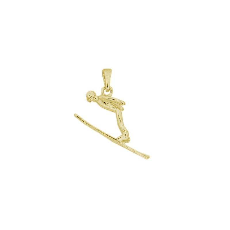 Pendentif saut de skieur Or 18 carats jaune - La Petite Française