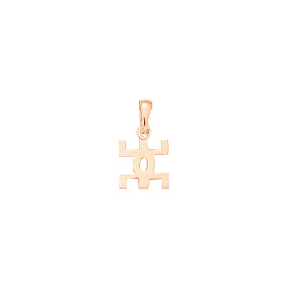 Pendentif symbole Berbère Or 18 carats rose - 20 MM - La Petite Française