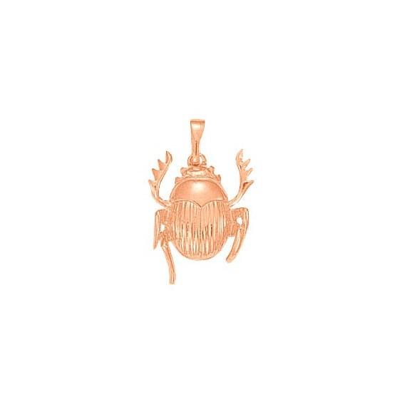 Pendentif scarabée Or 18 carats rose - 27 MM - La Petite Française