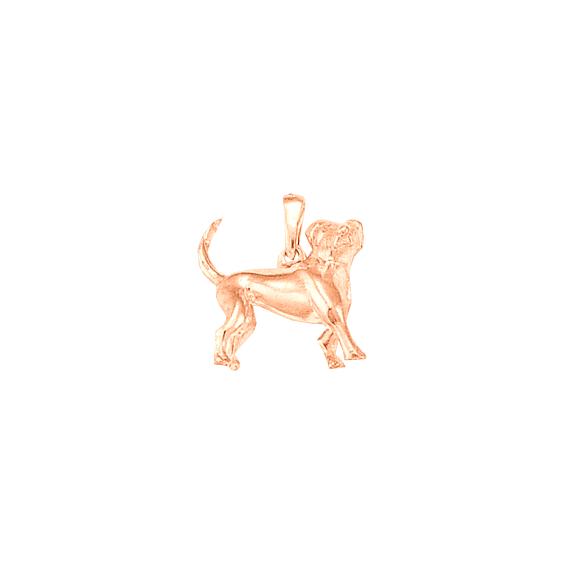 Pendentif chien Beagle Or 18 carats rose - 21 MM - La Petite Française