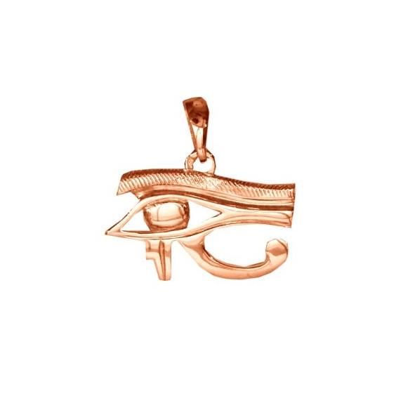 Pendentif oeil d'Horus Or 18 carats rose - 22 MM - La Petite Française