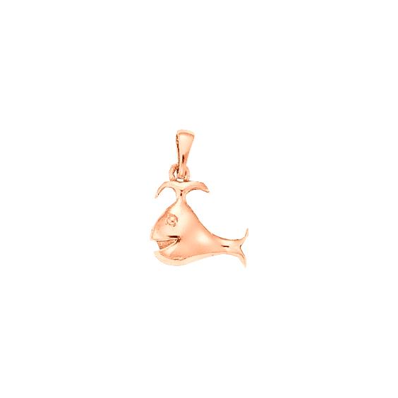 Pendentif baleine Or 18 carats rose - 22 MM - La Petite Française