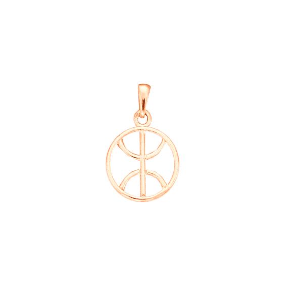Pendentif Berbère cercle Or 18 carats rose - 27 MM - La Petite Française