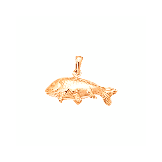 Pendentif poisson carpe Or 18 carats rose - La Petite Française