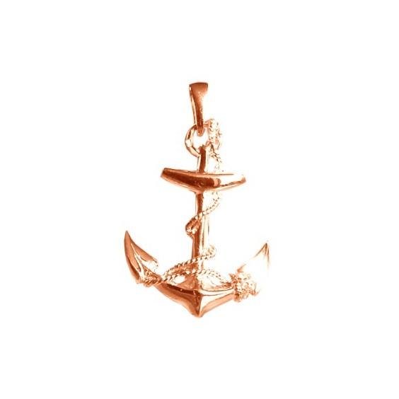 Pendentif ancre marine GM Or 18 carats rose - 33 MM - La Petite Française