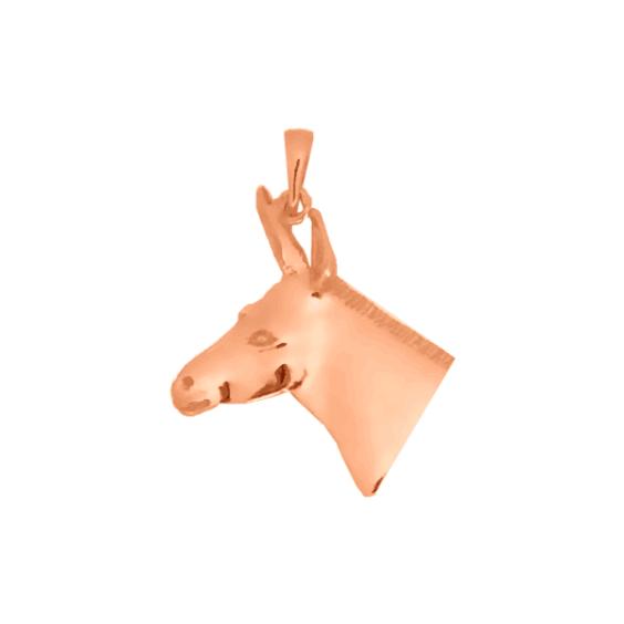 Pendentif tête d'âne Or 18 carats rose - 34 MM - La Petite Française