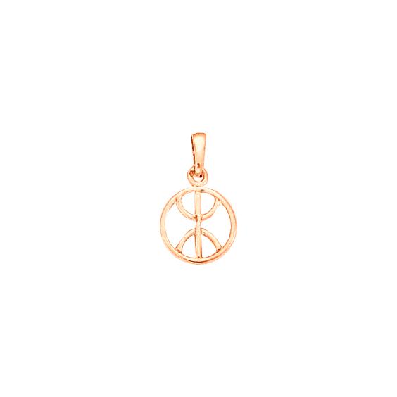 Pendentif Berbère cercle Or 18 carats rose - 22 MM - La Petite Française