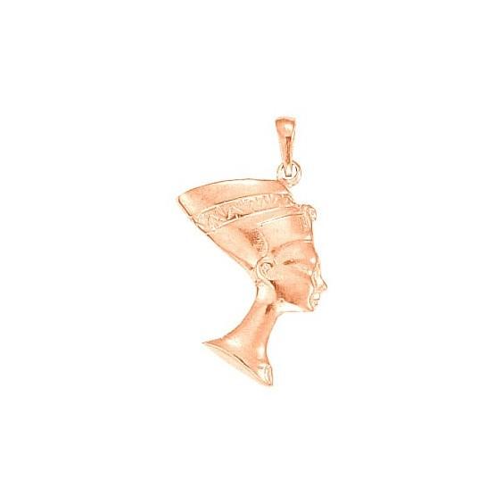 Pendentif reine Nefertiti Or 18 carats rose - 35 MM - La Petite Française
