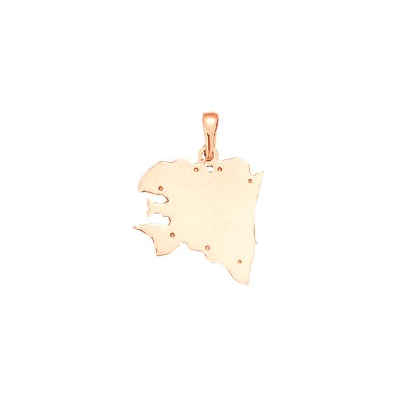 Pendentif carte Bretagne Ancestrale Or 18 carats rose - 29 MM - La Petite Française