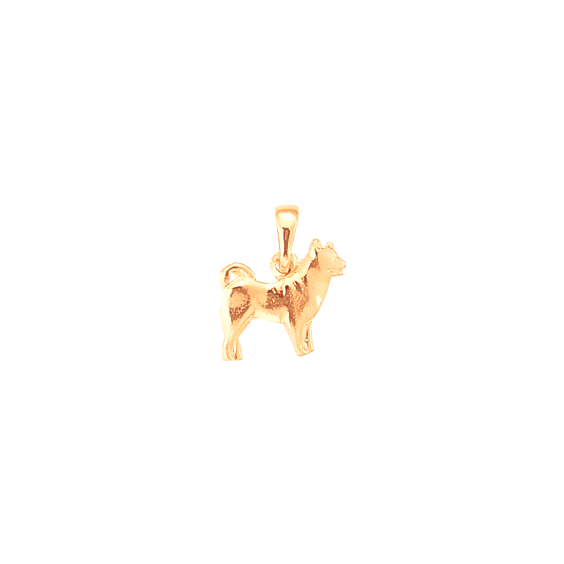 Pendentif chien Husky Or 18 carats rose - 17 MM - La Petite Française