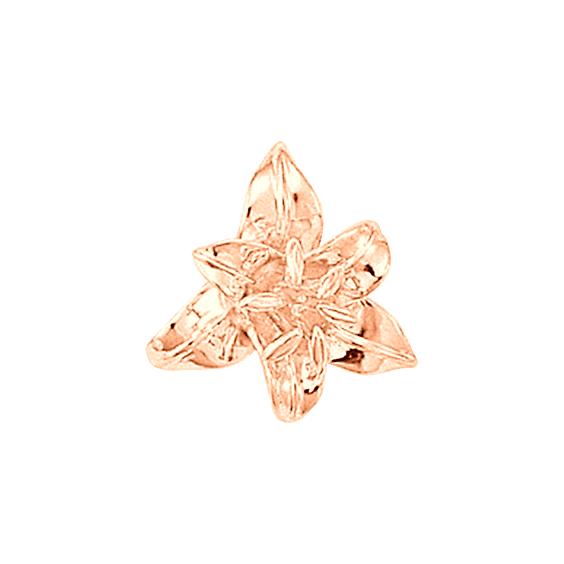 Pendentif fleur de Lys Or 18 carats rose - La Petite Française