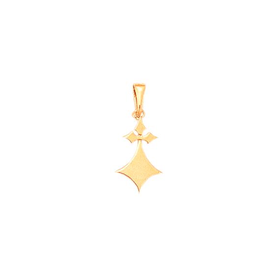 Pendentif hermine Or 18 carats rose - 26 MM - La Petite Française