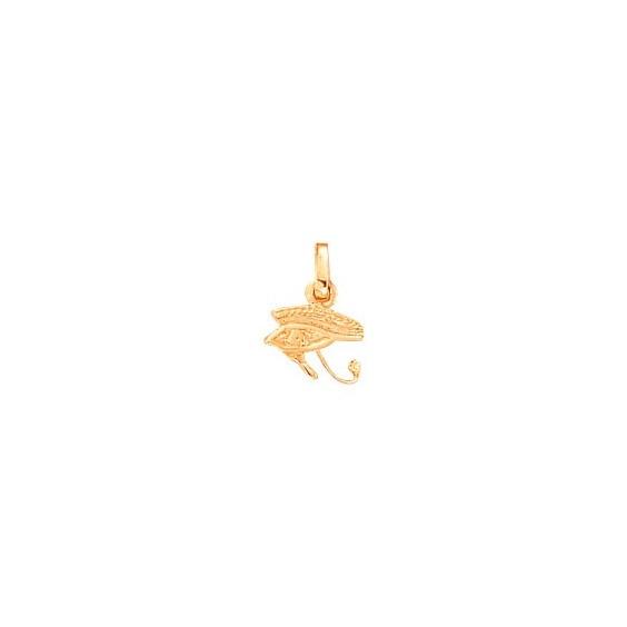 Pendentif oeil d'Horus Or 18 carats rose - 15 MM - La Petite Française