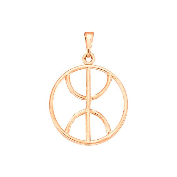 Pendentif Berbère cercle Or 18 carats rose - 43 MM - La Petite Française