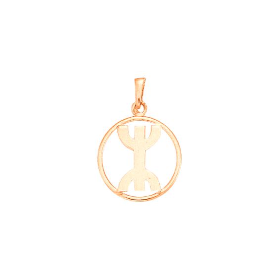 Pendentif Berbère cercle Or 18 carats rose - 30 MM - La Petite Française