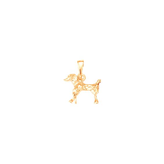 Pendentif chien Caniche Or 18 carats rose - 18 MM - La Petite Française