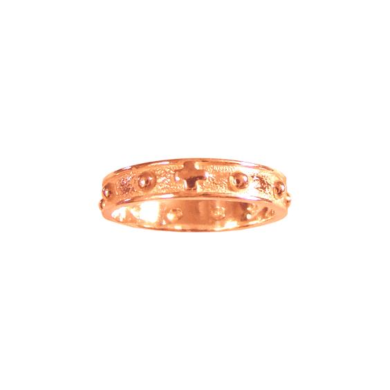 Anneau dizainier Or 18 carats rose - 4 MM - La Petite Française