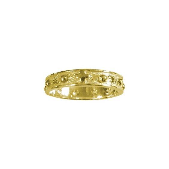 Anneau dizainier Or 14 carats jaune - 4 MM - La Petite Française