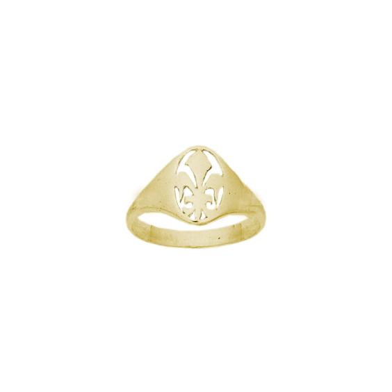 Bague fleur de Lys Or 14 carats jaune - La Petite Française