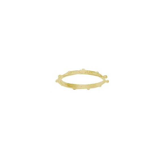 Anneau dizainier Or 14 carats jaune - 2 MM - La Petite Française