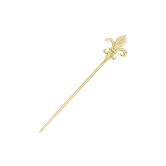 Epingle fleur de lys Or 14 carats jaune - La Petite Française