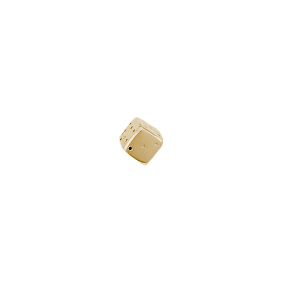 Dé à jouer or 14 carats jaune - La Petite Française
