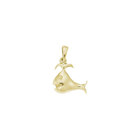 Pendentif baleine Or 14 carats jaune - 22 MM - La Petite Française