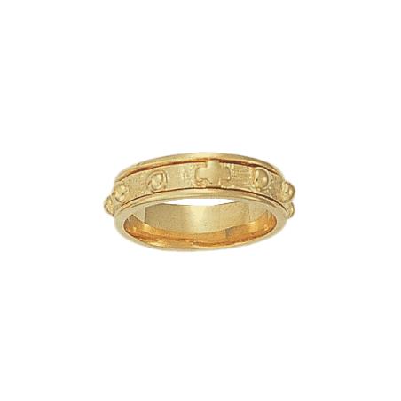 Anneau dizainier tournant Or 14 carats jaune - 6 MM - La Petite Française