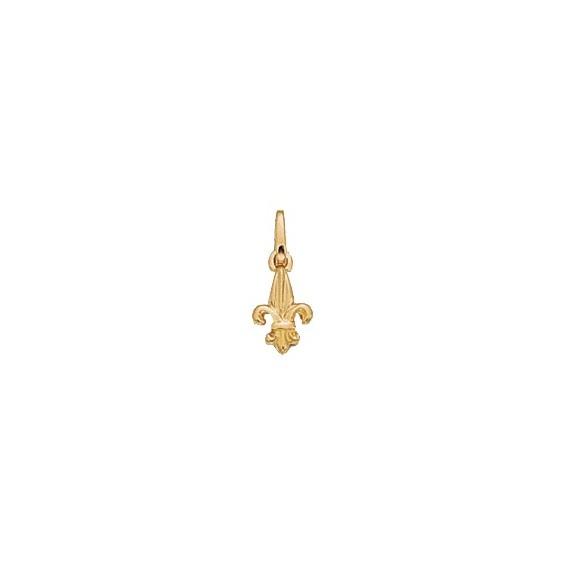 Pendentif enfant Fleur de Lys Or 14 carats jaune - 10 MM - La Petite Française