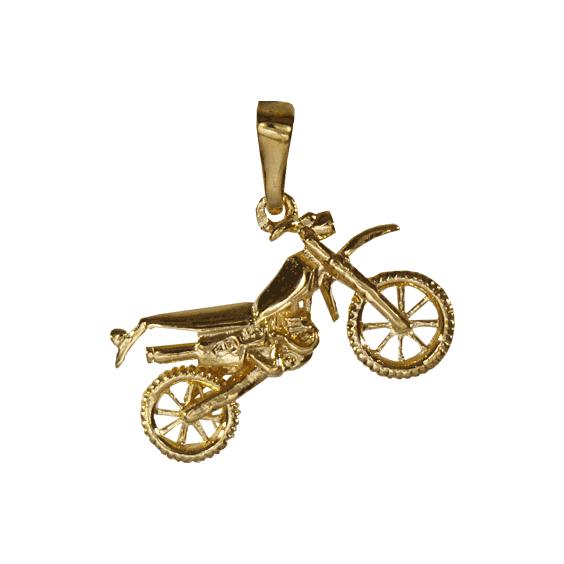 Pendentif moto-cross Or 14 carats jaune - La Petite Française