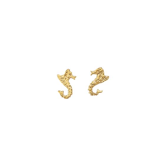 Boucles d'oreilles Hippocampe Or 14 carats jaune - La Petite Française