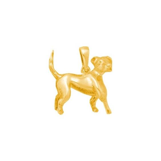 Pendentif chien Beagle Or 14 carats jaune - 21 MM - La Petite Française