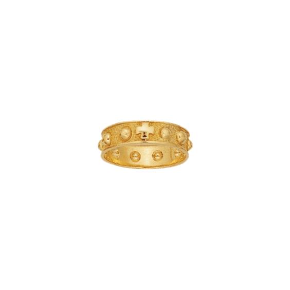Anneau dizainier Or 14 carats jaune - 5 MM - La Petite Française